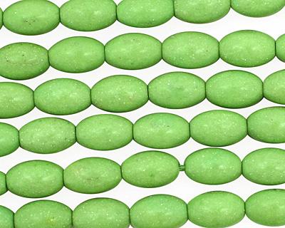 Apple Green Magnesite Rice 9x6mm