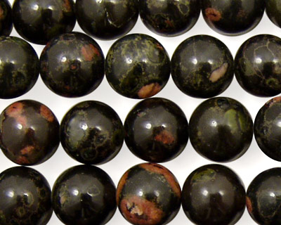 Black Leopardskin Jasper Round 10mm