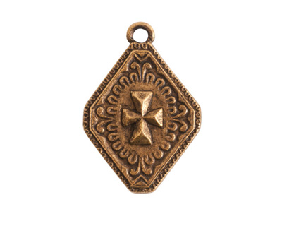 Nunn Design Antique Gold (plated) Imperial Cross Charm 19x27mm