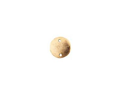 Nunn Design Antique Gold (plated) Flat Mini Circle Tag Link 13mm