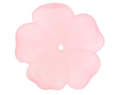 Matte Rose Lucite 5 Petal Flower 10x36mm