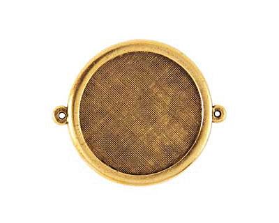 Nunn Design Antique Gold (plated) Framed Large Circle Pendant Link 44x38mm