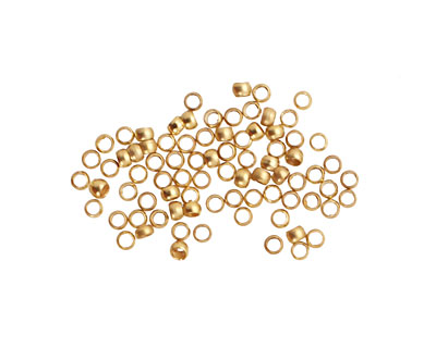 Satin Hamilton Gold (plated) Round Crimp Bead 2mm