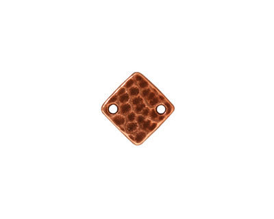 TierraCast Antique Copper (plated) Hammered Diamond Link 12mm