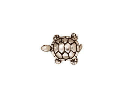 TierraCast Antique Silver (plated) Turtle Bead 15x12mm
