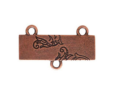 Nunn Design Antique Copper (plated) Large Thin Vine Connector 17x30mm
