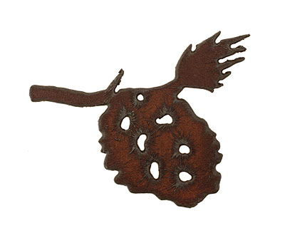 The Lipstick Ranch Rusted Iron Pinecone Pendant 55x57mm