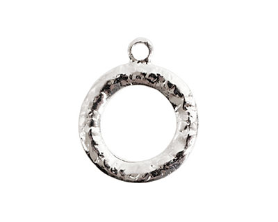 Nunn Design Sterling Silver (plated) Hammered Toggle Ring 20x25mm
