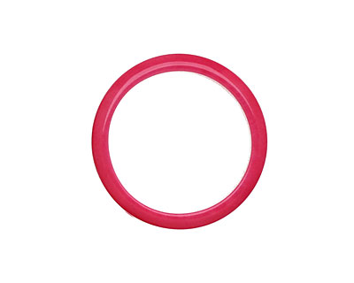 Tagua Nut Hot Pink Ring 22mm
