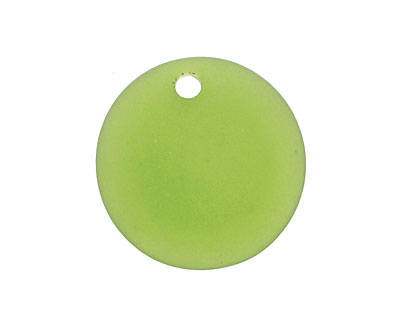 Olive Recycled Glass Concave Coin 24mm
