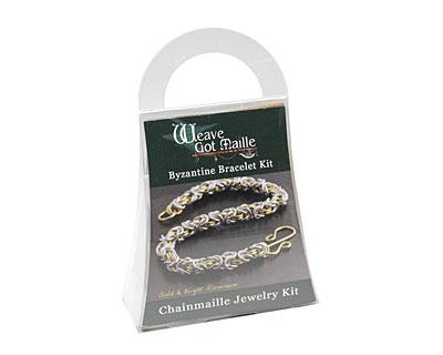 Weave Got Maille Gold & Silver Aluminum Byzantine Bracelet Kit