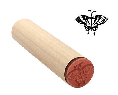 Backyard Butterfly Mini Rubber Stamp 19x15mm