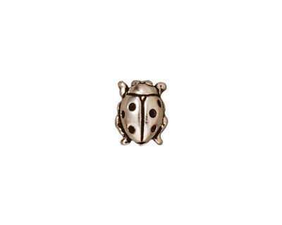 TierraCast Antique Silver (plated) Lady Bug 10x8mm