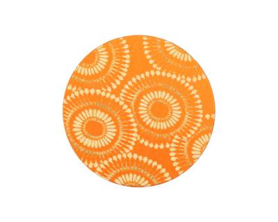 Lillypilly Orange Dandelion Anodized Aluminum Disc 25mm, 24 gauge