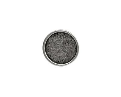Nunn Design Antique Silver (plated) Mini Circle Screw Back Bezel 15mm