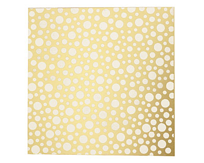 Lillypilly Gold Scattered Dots Anodized Aluminum Sheet 3