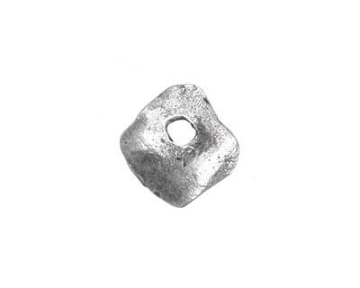 Greek Pewter Small Hammered Diamond Drop 15mm
