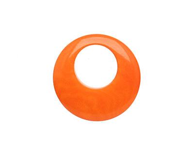 Tagua Nut Orange Gypsy Hoop 25mm