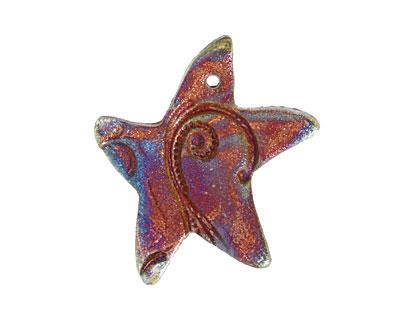 Xaz Raku Stan's Rust Star 33-35x38-40mm