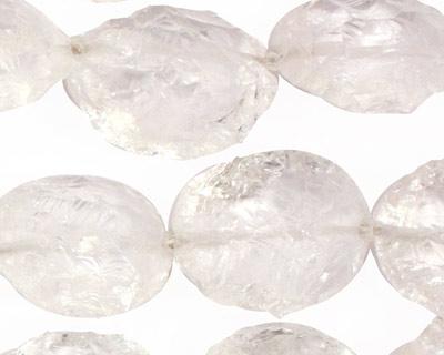 Rock Crystal Textured Flat Oval 11-24x16-18mm