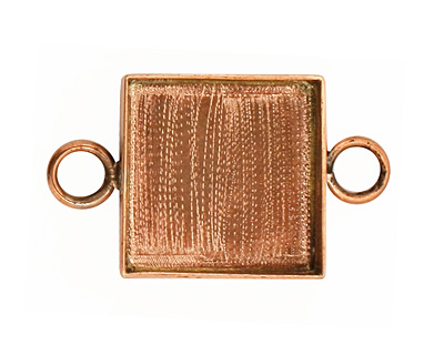 Copper Square Bezel Link 19mm