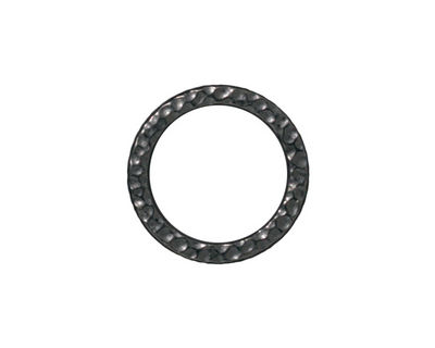 TierraCast Gunmetal Large Hammertone Ring 19mm