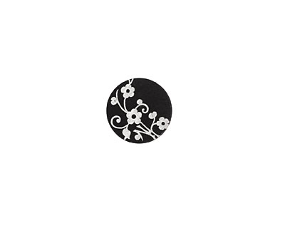 Lillypilly Black Floral Vine Anodized Aluminum Disc 11mm, 22 gauge