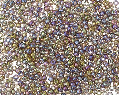 Rainbow Black Diamond Round 11/0 Seed Bead