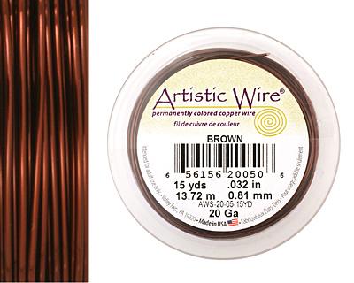 Artistic Wire Brown 20 gauge, 15 yards