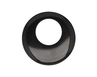 Tagua Nut Black Gypsy Hoop 25mm