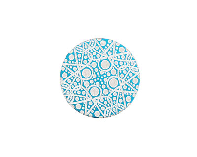 Lillypilly Turquoise Geometrics Anodized Aluminum Disc 19mm, 24 gauge
