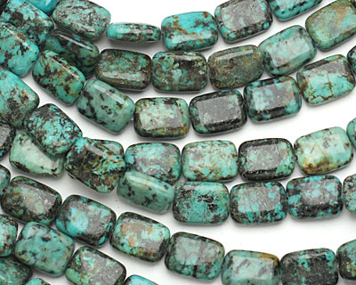African Turquoise Thin Pillow 16x12mm