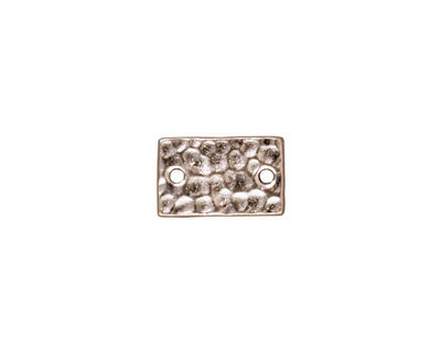 TierraCast Rhodium (plated) Hammered Rectangle Link 13x8mm
