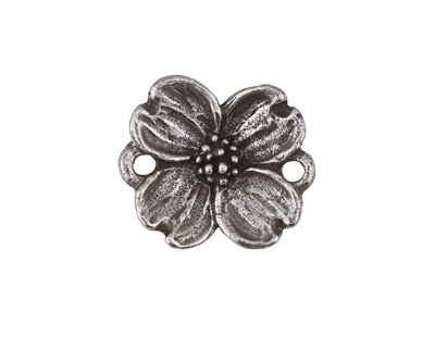 Green Girl Pewter Dogwood Blossom Link 23x20mm