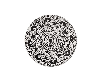 Lillypilly Black Lace Anodized Aluminum Disc 25mm, 22 gauge