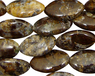 Pine Needle Jasper Horse Eye 20x12mm