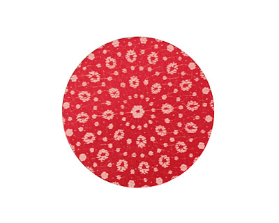Lillypilly Red Crochet Anodized Aluminum Disc 25mm, 24 gauge