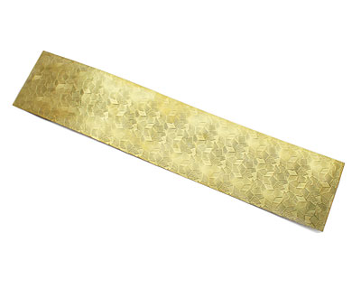 Abstract Patterned Brass Strip 2.5