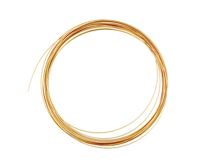 German Style Wire Non Tarnish Brass Half Round 21 gauge, 4 meters
