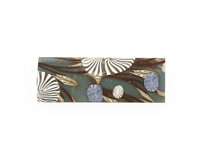 Humble Beads Polymer Clay Teal 6 Hole Branch Cuff 11-12x34mm
