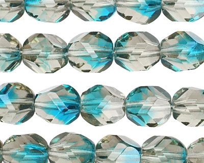 Czech Glass Fish Bowl Faceted Nugget 10x9mm