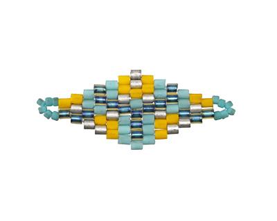Margarita Hand Woven Diamond 32x13mm