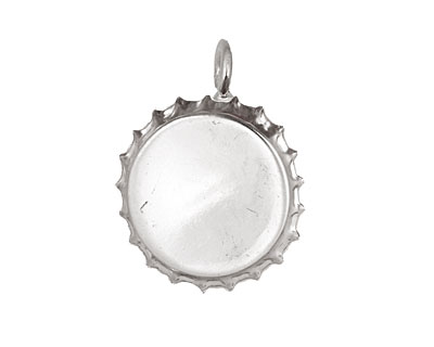 Silver (plated) Bottle Cap Bezel 30mm