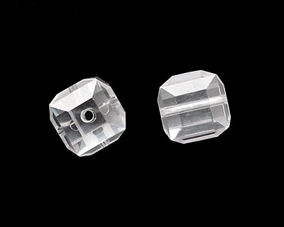 Crystal Clear Faceted Cube 8mm