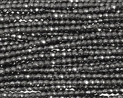 Hematite Faceted Round 2mm