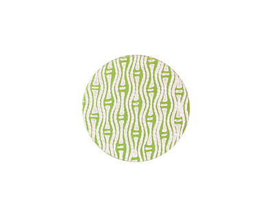 Lillypilly Lime Green Reeds Anodized Aluminum Disc 19mm, 24 gauge