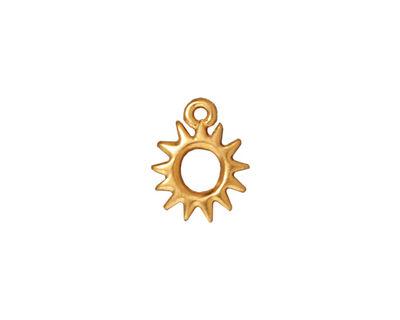 TierraCast Gold (plated) Radiant Sun Charm 11x14mm