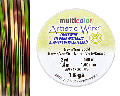 Artistic Wire MultiColor Brown/Green/Gold 18 Gauge, 2 Yards