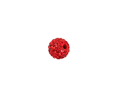Siam Ruby Pave Round 8mm (1.5mm hole)