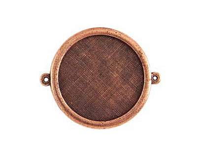 Nunn Design Antique Copper (plated) Framed Large Circle Pendant Link 44x38mm